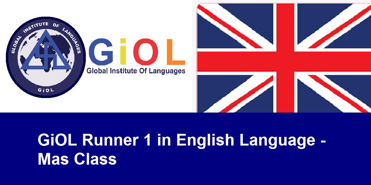 GiOL Runner 1 in English Language - Mas Class